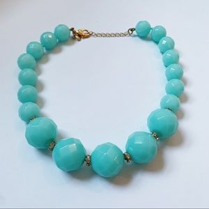 J. Crew Teal Turquoise Beaded Statement Necklace